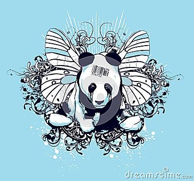 Artistiek pandaontwerp