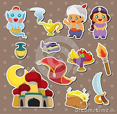 Artoon Lamp of Aladdin stickers