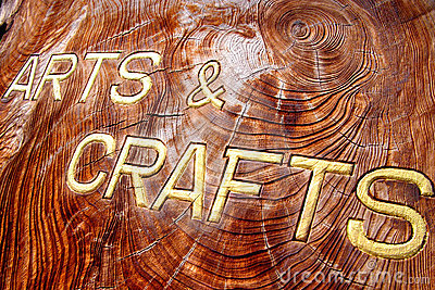 Arts and crafts inscription