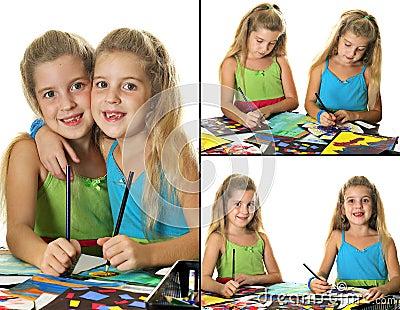 Arts & crafts kids collage
