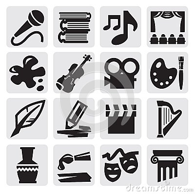Free Arts Icon Set Royalty Free Stock Images - 26537079