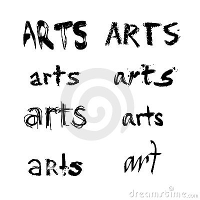 Arts spelled in various fonts