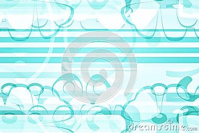 Artsy blue and white design paper