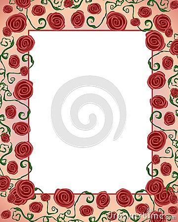 Artsy Folksy Rose Border Frame