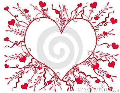 Artsy Valentine s Day Heart Card 2
