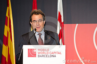 Artur Mas at MWC 2012 Editorial Image