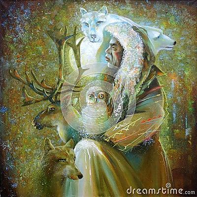 Free Artwork. Master Of The Tundra. Author: Nikolay Sivenkov. Stock Photo - 117729200
