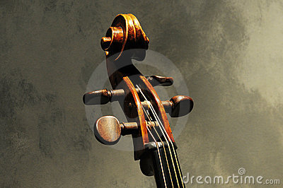 Artwork of musical instrument violin