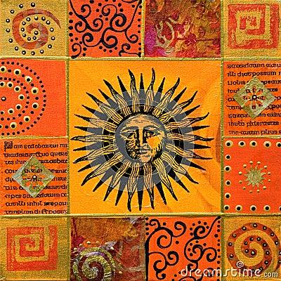 Artwork with sun