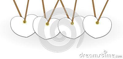 Artwork white heart pattern
