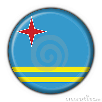 Aruba button flag round shape