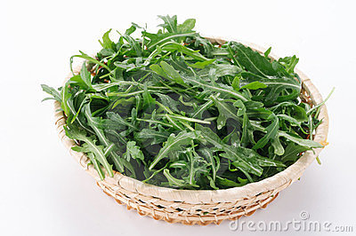 Arugula in the basket
