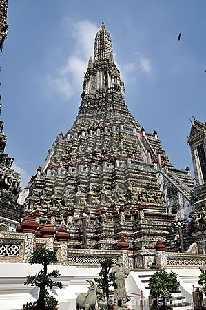 Arun曼谷黎明寺庙泰国wat 编辑类库存图片