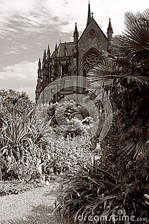 Arundel cathedral garden