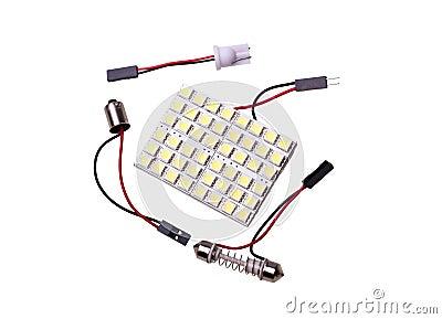 żarówki samochodowy dowodzony oświetlenia panel zamienia salon