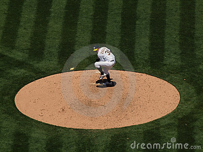 As Brad Ziegler winds up to throw a pitch Editorial Photo