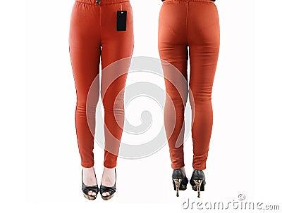 As calças das mulheres