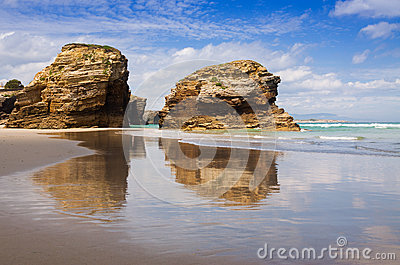 As Catedrais Beach Stock Photo - Image: 66841329