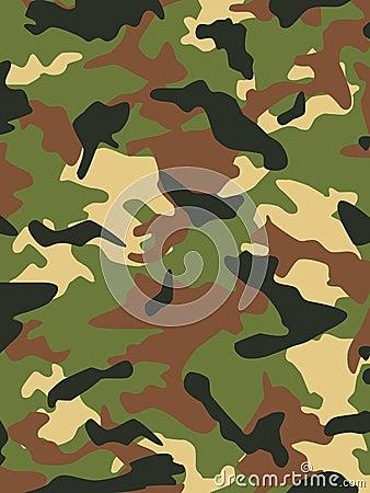 As forças armadas camuflam