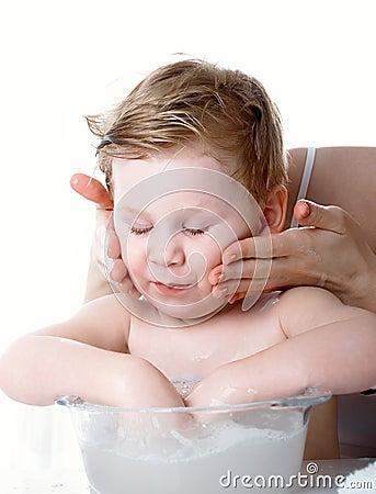 As lavagens do menino