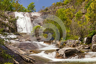 As Mestas waterfall in Melon, Ourense, Spain