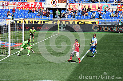 AS ROMA VS PESCARA (1:1) FOOTBALL GAME Editorial Stock Photo