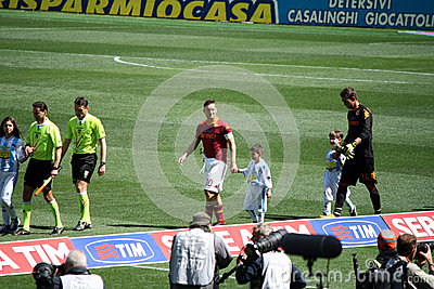 AS ROMA VS PESCARA (1:1) FOOTBALL GAME Editorial Stock Image