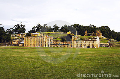 As ruínas históricas do Port Arthur em Tasmânia