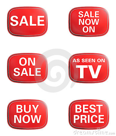 As seen on TV, Sale. Advertising icon set