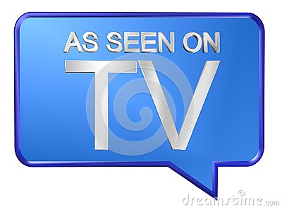 As seen on TV Cartoon Illustration