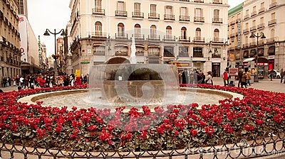 A Madrid town square Editorial Image