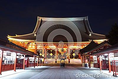 Висок Asakusa на токио Японии