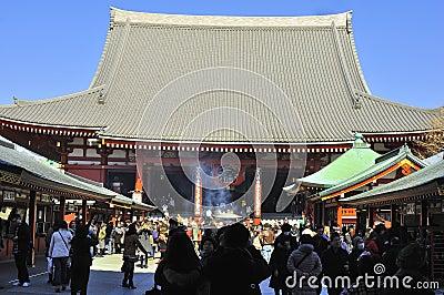 Asakusa Buddhist Shrine - Sensoji Editorial Image