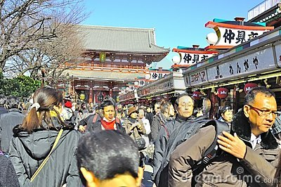 Asakusa Buddhist Shrine - Sensoji Editorial Stock Photo