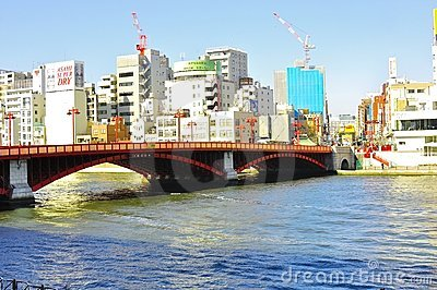Asakusa most Obraz Stock Editorial
