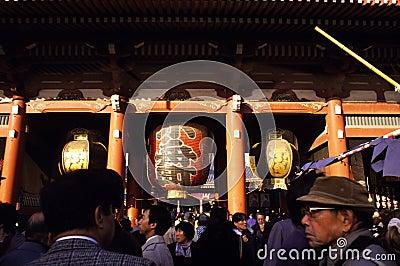 Asakusa Shrine in Tokyo Editorial Photography