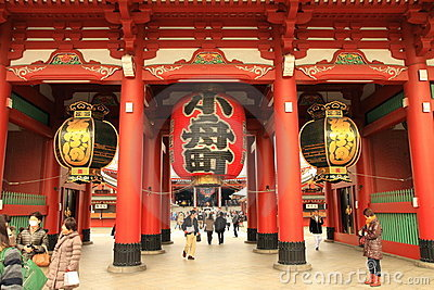 Asakusa Temple Editorial Image