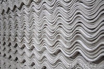 Asbestos tiles - wave pattern
