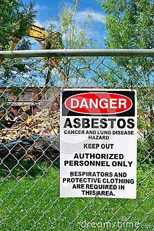 Free Asbestos Warning Stock Image - 12476351