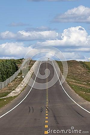 Ascending asphalt road