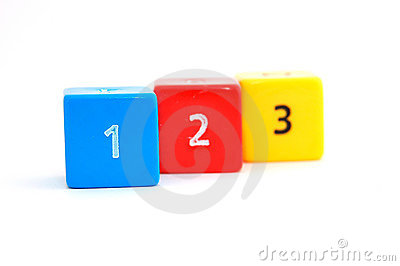 Ascending numbers on colorful dices