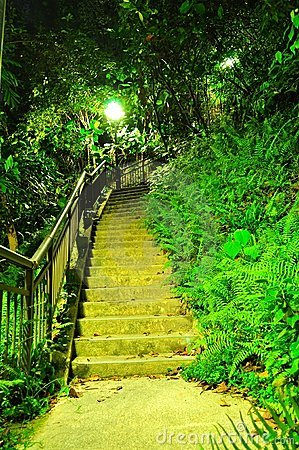 Ascending walkway at Labrador park