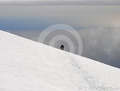 Ascent to the top of Beerenberg on Jan Mayen
