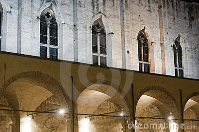 Ascoli Piceno (Marches, Italy): Cloister by night