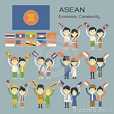 Asean people Vector Illustration