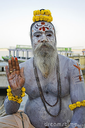 Ash Covered Sadhu 1 Editorial Stock Image