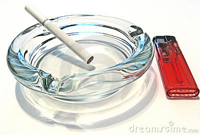 Ash tray cigarrette lighter