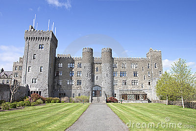 Ashford Castle and gardens in Cong, Ireland.