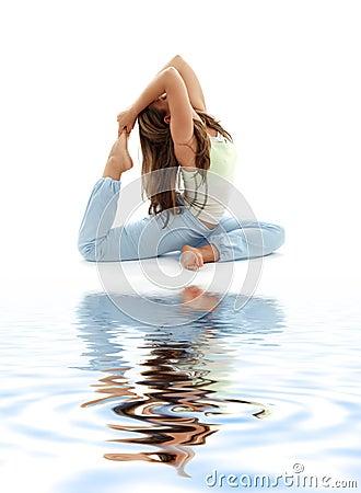Ashtanga yoga on white sand #2