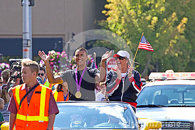 Ashton Eaton Olympian Homecoming Parade Editorial Stock Image